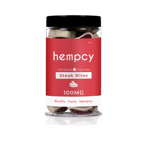Hempcy CBD Pet Treats- Steak Bites