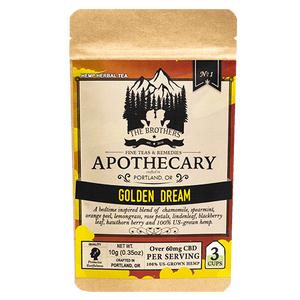 Golden Dream - CBD Tea - Brother's Apothecary at Modest Hemp Co.