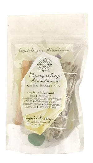 Manifesting Abundance Crystal Kit - Crystal Rising - for sale at Modest Hemp Co.