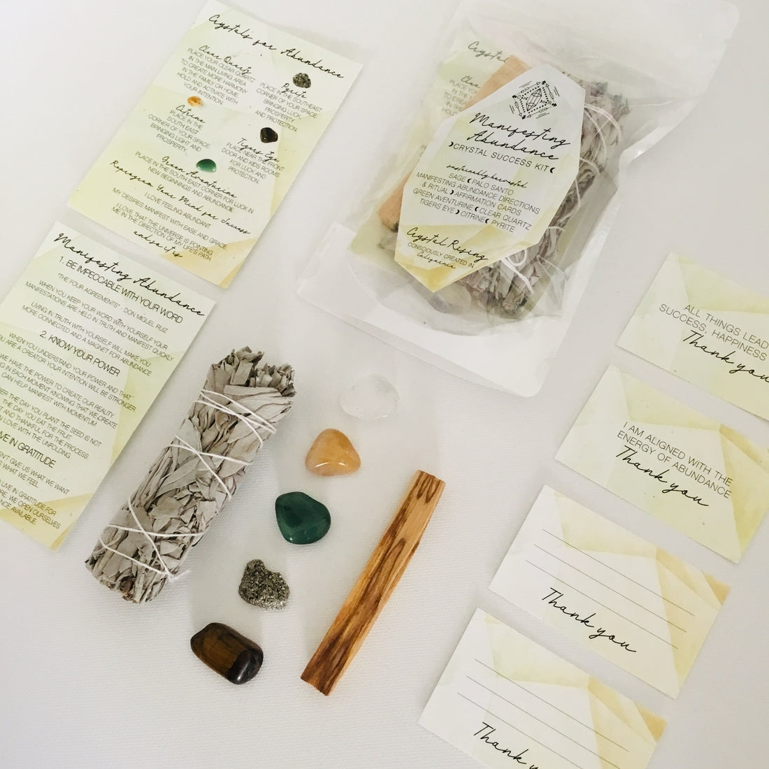Manifesting Abundance Ritual Kit - Crystal Rising - for sale at Modest Hemp Co.