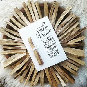 Crystal Rising - Palo Santo & Hand-Lettered Card at Modest Hemp Co.