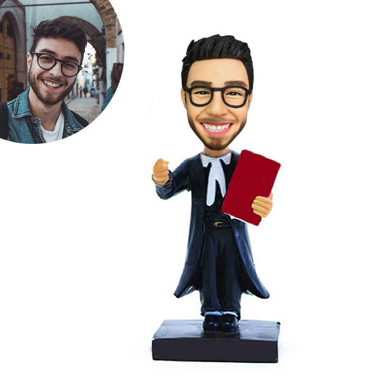 Male Lawyer Custom Bobblehead