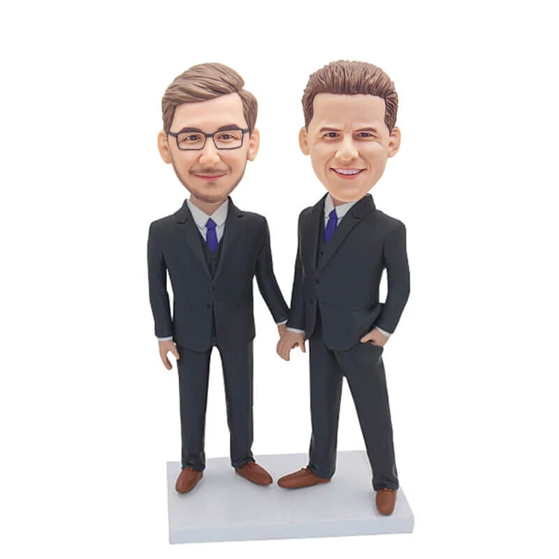 Custom Male Same-sex Couple Bobblehead