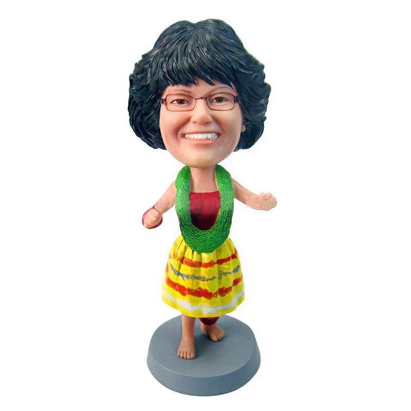 Hawaii Girl Style Custom Bobblehead