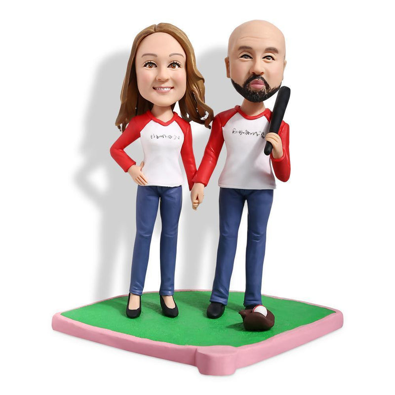 Baseball Couple B Custom Bobblehead COUPLES My Bobblehead