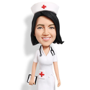 Beautiful Nurse With Red Cross Custom Bobblehead WORKS My Bobblehead