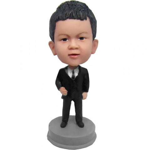 Boy In Suit Custom Bobblehead KIDS My Bobblehead