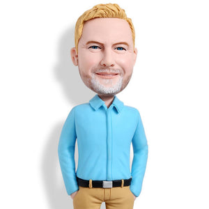Business Casual Male A Premium Figure Custom Bobblehead WORKS My Bobblehead
