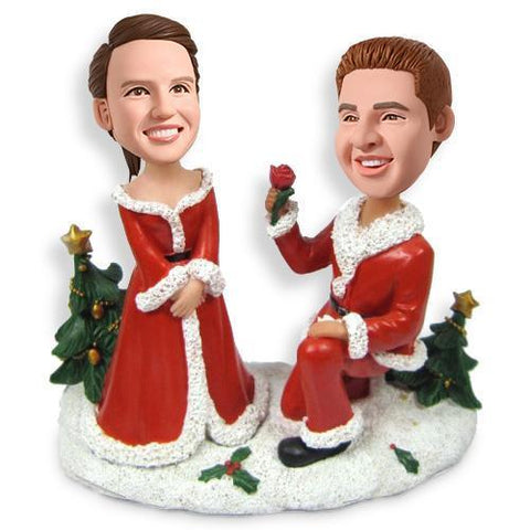 Christmas Gift Marry Me Custom Bobblehead Christmas My Bobblehead