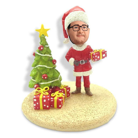 Christmas Gift Men with Chritmas Tree Custom Bobblehead Christmas My Bobblehead