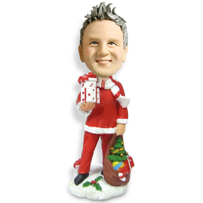 Christmas Gift Men with Gift Custom Bobblehead Christmas My Bobblehead