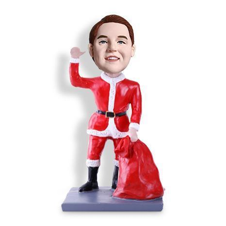 Christmas Gift Santa Claus Has a Big Bag Custom Bobblehead Christmas My Bobblehead