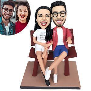 Couple In The Chair Custom Bobblehead COUPLES My Bobblehead