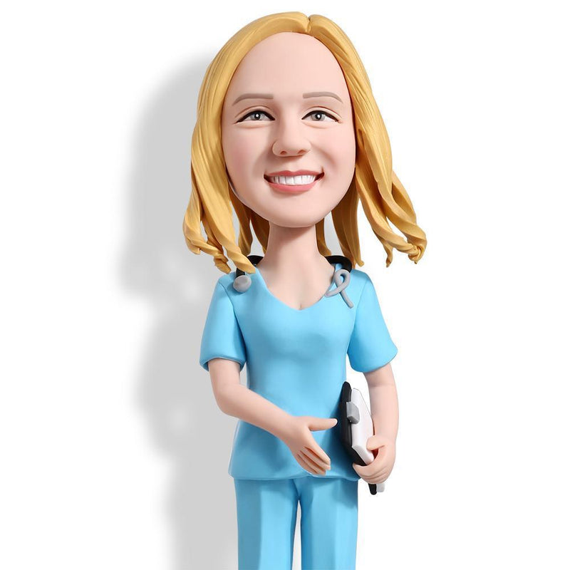 Female Nurse Custom Bobblehead WORKS My Bobblehead