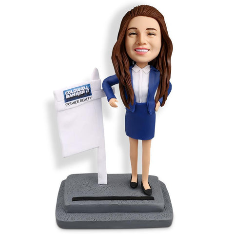 Female Realtor Custom Bobblehead WORKS My Bobblehead