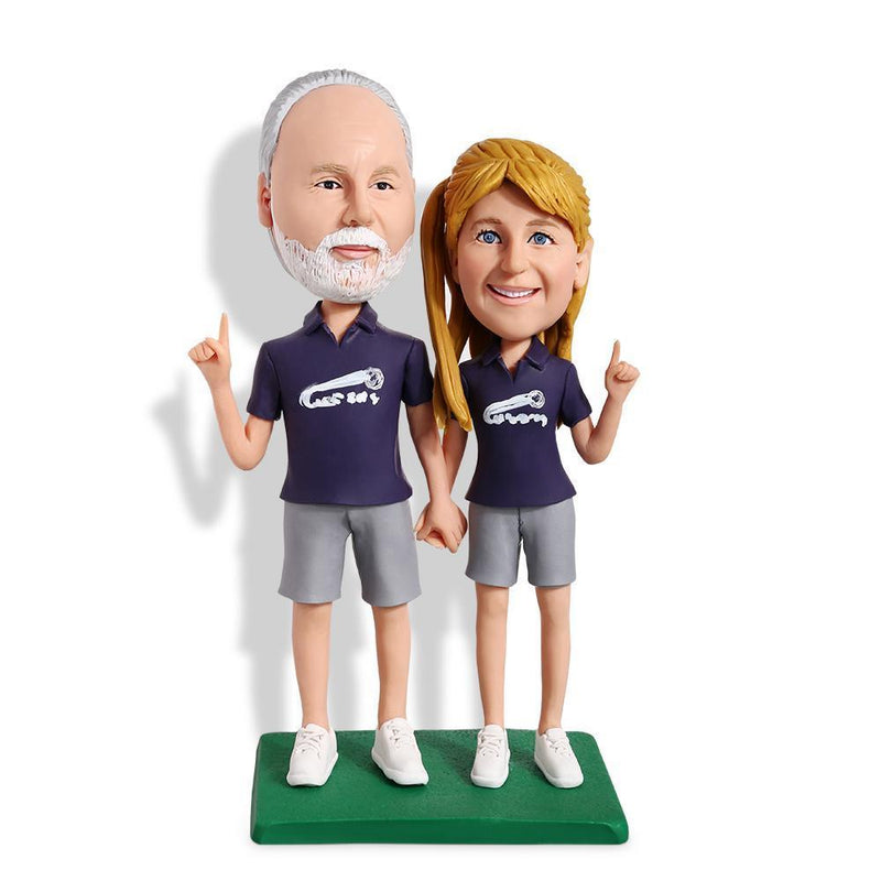 Football Fans Couple Custom Bobblehead COUPLES My Bobblehead