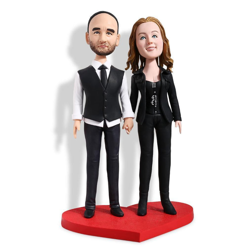 Formal Black Costume Couple Custom Bobblehead Couples My Bobblehead