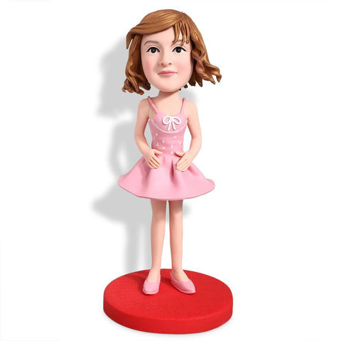 Girl In A Dress Custom Bobblehead KIDS My Bobblehead