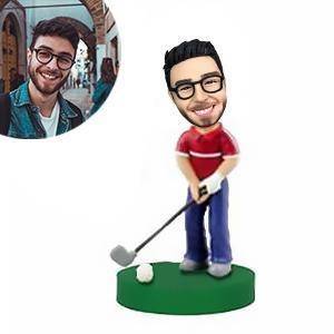 Golfer With Club Custom Bobblehead SPORTS My Bobblehead