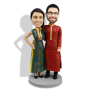 Indian Couple Custom Bobblehead COUPLES My Bobblehead