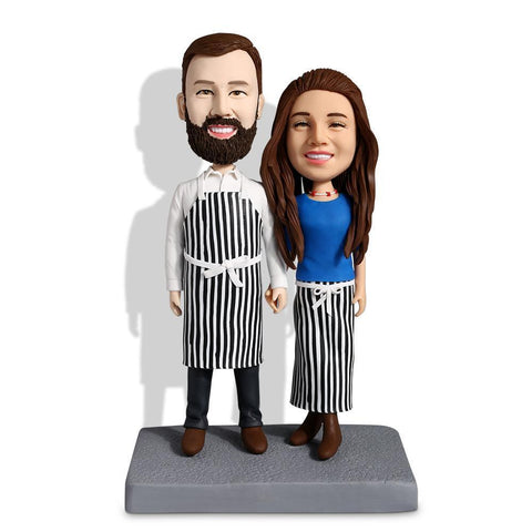 Kitchen Couple Custom Bobblehead COUPLES My Bobblehead