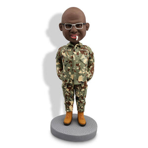 Male Soldier With A Cigarette Army Custom Bobblehead POLICE&SOLDIER My Bobblehead