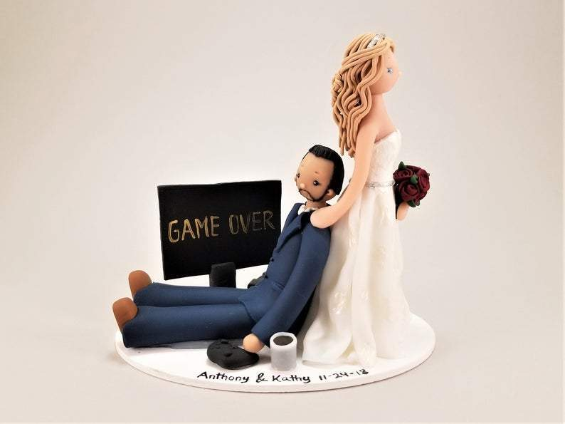 Nurse Dragging Soldier Personalized Wedding Cake Topper cake topper My Bobblehead