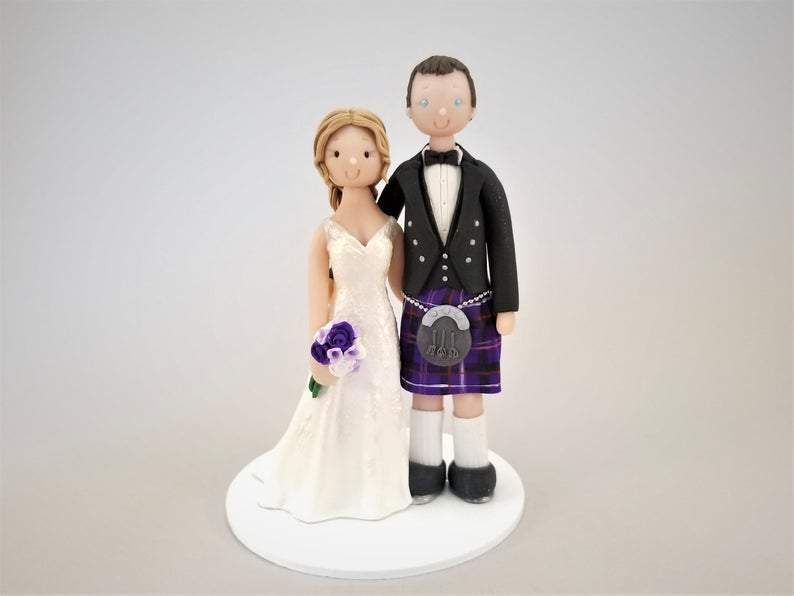 Personalized Scottish Wedding Cake Topper cake topper My Bobblehead