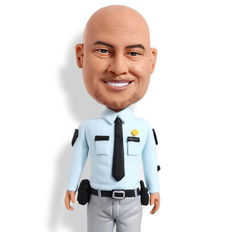 Policeman With Shirt Custom Bobblehead POLICE&SOLDIER My Bobblehead