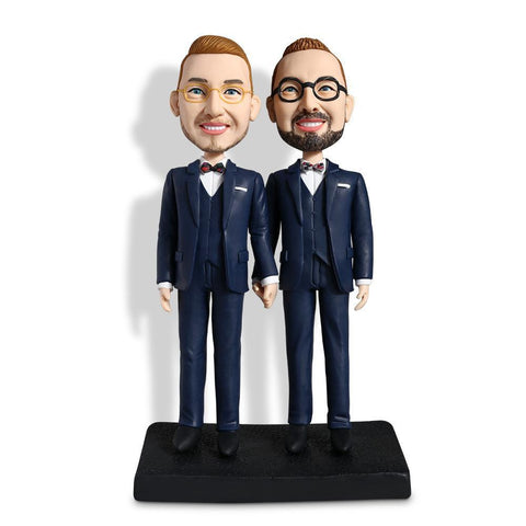 Same-gender Male Couple Custom Bobblehead COUPLES My Bobblehead
