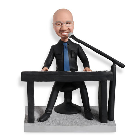 Singer Playing Piano Custom Bobblehead Musician My Bobblehead