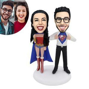 Superheroes Couple Custom Bobblehead COUPLES My Bobblehead