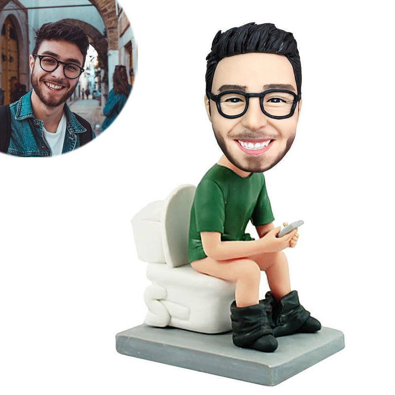 The Man On The Toilet Custom Bobblehead LEISURE My Bobblehead