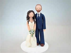 Unique Cake Toppers - Bride & Groom Customized Wedding Cake Topper cake topper My Bobblehead
