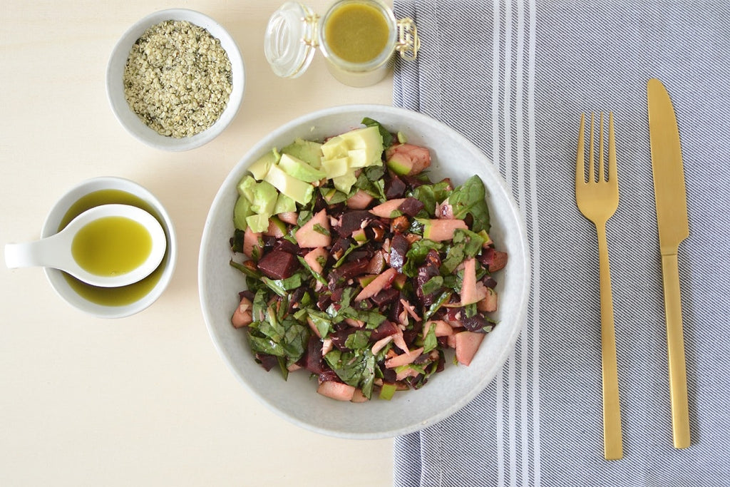 Hemp Oil Vinaigrette Beetroot Salad
