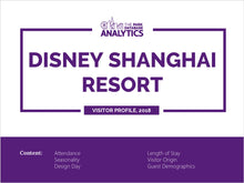 Load image into Gallery viewer, Disney Shanghai Attendance Profile & Demographics