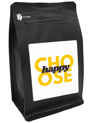 Choose Happy – Coffee Gift – Gifts for Coffee Lovers with Funny, Inspirational Quotes – Best Gifts for Coffee Lovers for Christmas, Birthdays, Anniversaries – Coffee Gift Ideas – 12oz Medium-Dark Roast Coffee Beans