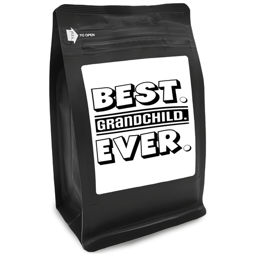 Best Grandchild Ever – Coffee Gift – Gifts for Coffee Lovers with Funny, Inspirational Quotes – Best Gifts for Coffee Lovers for Christmas, Birthdays, Anniversaries – Coffee Gift Ideas – 12oz Medium-Dark Roast Coffee Beans