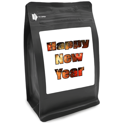 Happy New Year – for Coffee Lovers with Funny, Inspirational Quotes – Best for Christmas, Birthdays, Anniversaries – Coffee Ideas – 12oz Medium-Dark Roast Coffee Beans