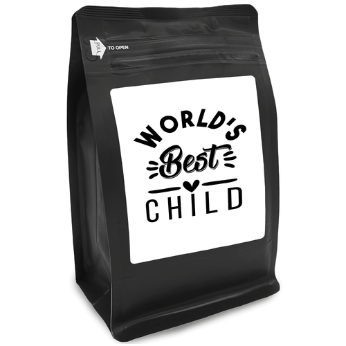 World's Best Child – Coffee Gift – Gifts for Coffee Lovers with Funny, Inspirational Quotes – Best Gifts for Coffee Lovers for Christmas, Birthdays, Anniversaries – Coffee Gift Ideas – 12oz Medium-Dark Roast Coffee Beans