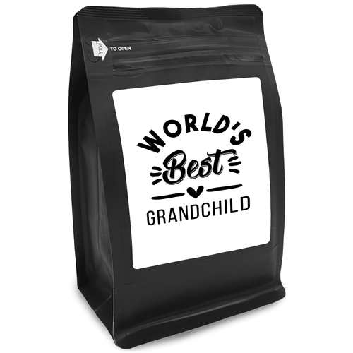 World's Best Grandchild – Coffee Gift – Gifts for Coffee Lovers with Funny, Inspirational Quotes – Best Gifts for Coffee Lovers for Christmas, Birthdays, Anniversaries – Coffee Gift Ideas – 12oz Medium-Dark Roast Coffee Beans