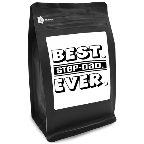 Best Step-Dad Ever – Coffee Gift – Gifts for Coffee Lovers with Funny, Inspirational Quotes – Best Gifts for Coffee Lovers for Christmas, Birthdays, Anniversaries – Coffee Gift Ideas – 12oz Medium-Dark Roast Coffee Beans