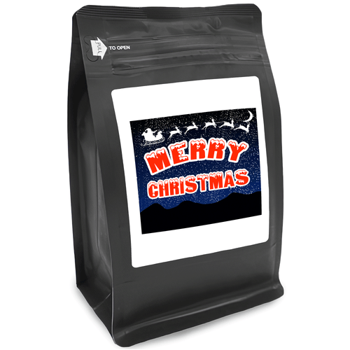 Merry Christmas – for Coffee Lovers with Funny, Inspirational Quotes – Best for Christmas, Birthdays, Anniversaries – Coffee Ideas – 12oz Medium-Dark Roast Coffee Beans