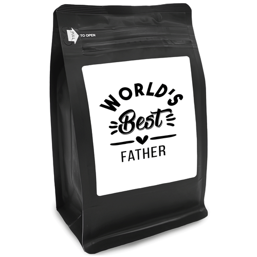 World's Best Father – Coffee Gift – Gifts for Coffee Lovers with Funny, Inspirational Quotes – Best Gifts for Coffee Lovers for Christmas, Birthdays, Anniversaries – Coffee Gift Ideas – 12oz Medium-Dark Roast Coffee Beans