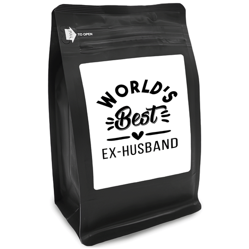 World's Best Ex-Husband – Coffee Gift – Gifts for Coffee Lovers with Funny, Inspirational Quotes – Best Gifts for Coffee Lovers for Christmas, Birthdays, Anniversaries – Coffee Gift Ideas – 12oz Medium-Dark Roast Coffee Beans