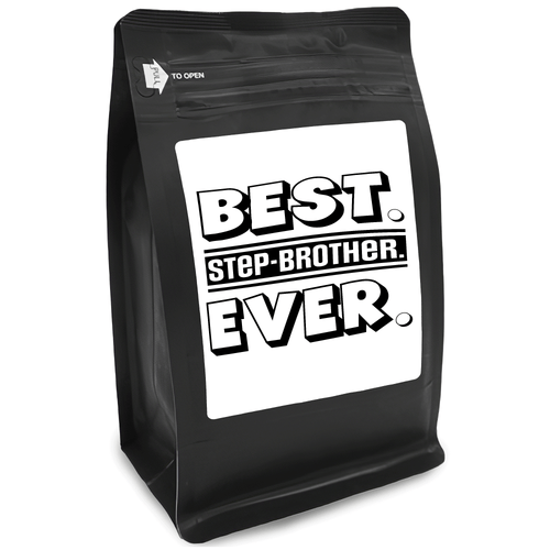 Best Half-Brother Ever – Coffee Gift – Gifts for Coffee Lovers with Funny, Inspirational Quotes – Best Gifts for Coffee Lovers for Christmas, Birthdays, Anniversaries – Coffee Gift Ideas – 12oz Medium-Dark Roast Coffee Beans