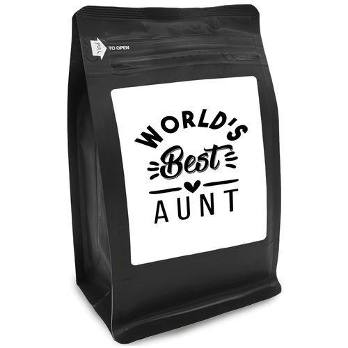 World's Best Aunt – Coffee Gift – Gifts for Coffee Lovers with Funny, Inspirational Quotes – Best Gifts for Coffee Lovers for Christmas, Birthdays, Anniversaries – Coffee Gift Ideas – 12oz Medium-Dark Roast Coffee Beans