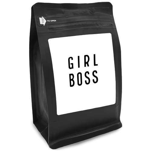 Girl Boss – Coffee Gift – Gifts for Coffee Lovers with Funny, Inspirational Quotes – Best Gifts for Coffee Lovers for Christmas, Birthdays, Anniversaries – Coffee Gift Ideas – 12oz Medium-Dark Roast Coffee Beans