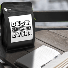 Load image into Gallery viewer, Best Grandson Ever – Coffee Gift – Gifts for Coffee Lovers with Funny, Inspirational Quotes – Best Gifts for Coffee Lovers for Christmas, Birthdays, Anniversaries – Coffee Gift Ideas – 12oz Medium-Dark Roast Coffee Beans