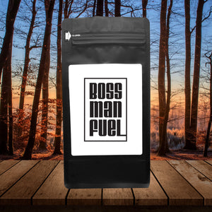 Boss Man Fuel – Coffee Gift – Gifts for Coffee Lovers with Funny, Inspirational Quotes – Best Gifts for Coffee Lovers for Christmas, Birthdays, Anniversaries – Coffee Gift Ideas – 12oz Medium-Dark Roast Coffee Beans